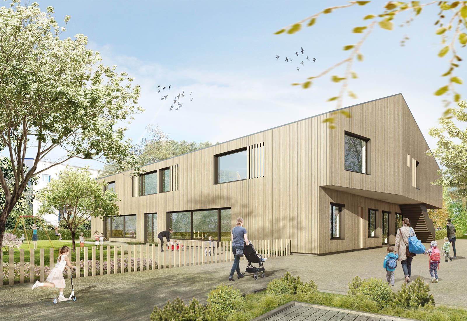 Nickel und Wachter Architekten - Rendering Kita Jean-Paul