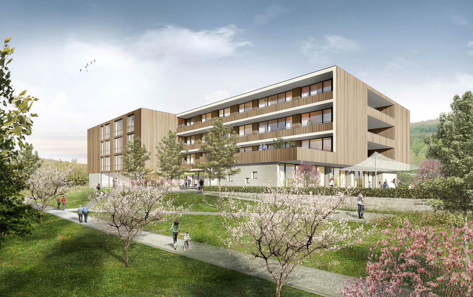 Nickel und Wachter Architekten - Kindergarten Altenpflegezentrum