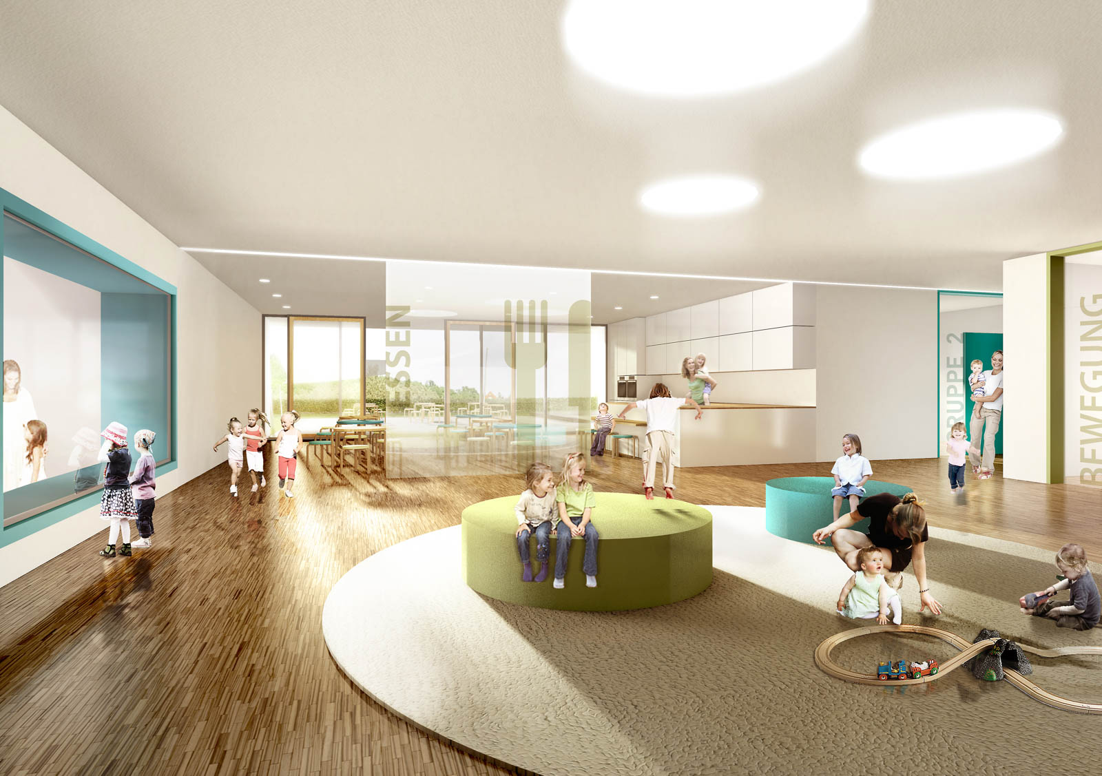 Nickel und Wachter Architekten - Kindergarten Altenpflegezentrum Diakonie Ebern
