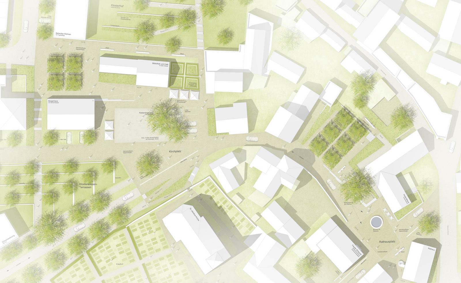 Nickel und Wachter Architekten - Klosterwiese Viereth Grünflächen