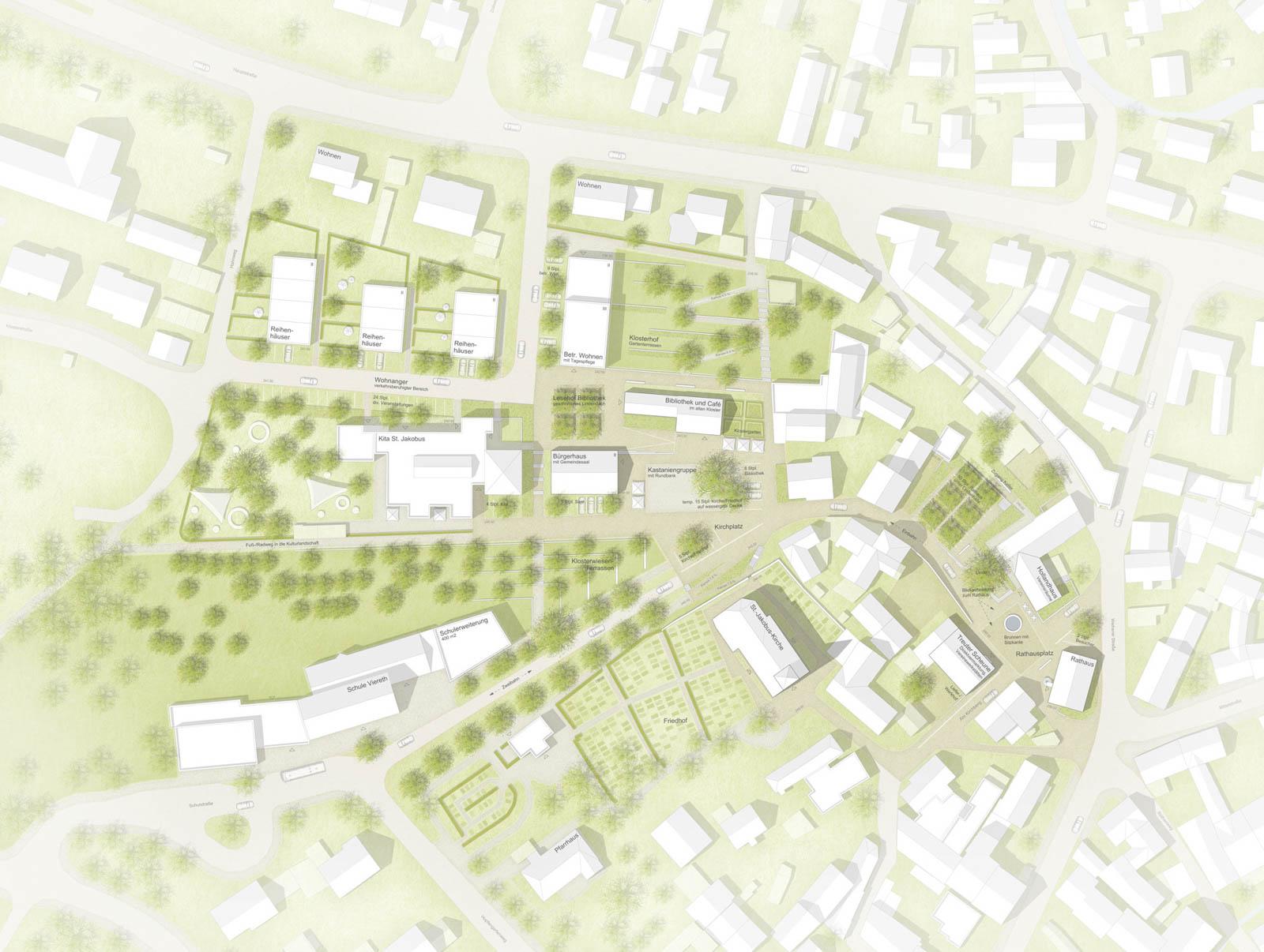 Nickel und Wachter Architekten - Klosterwiese Viereth Lageplan